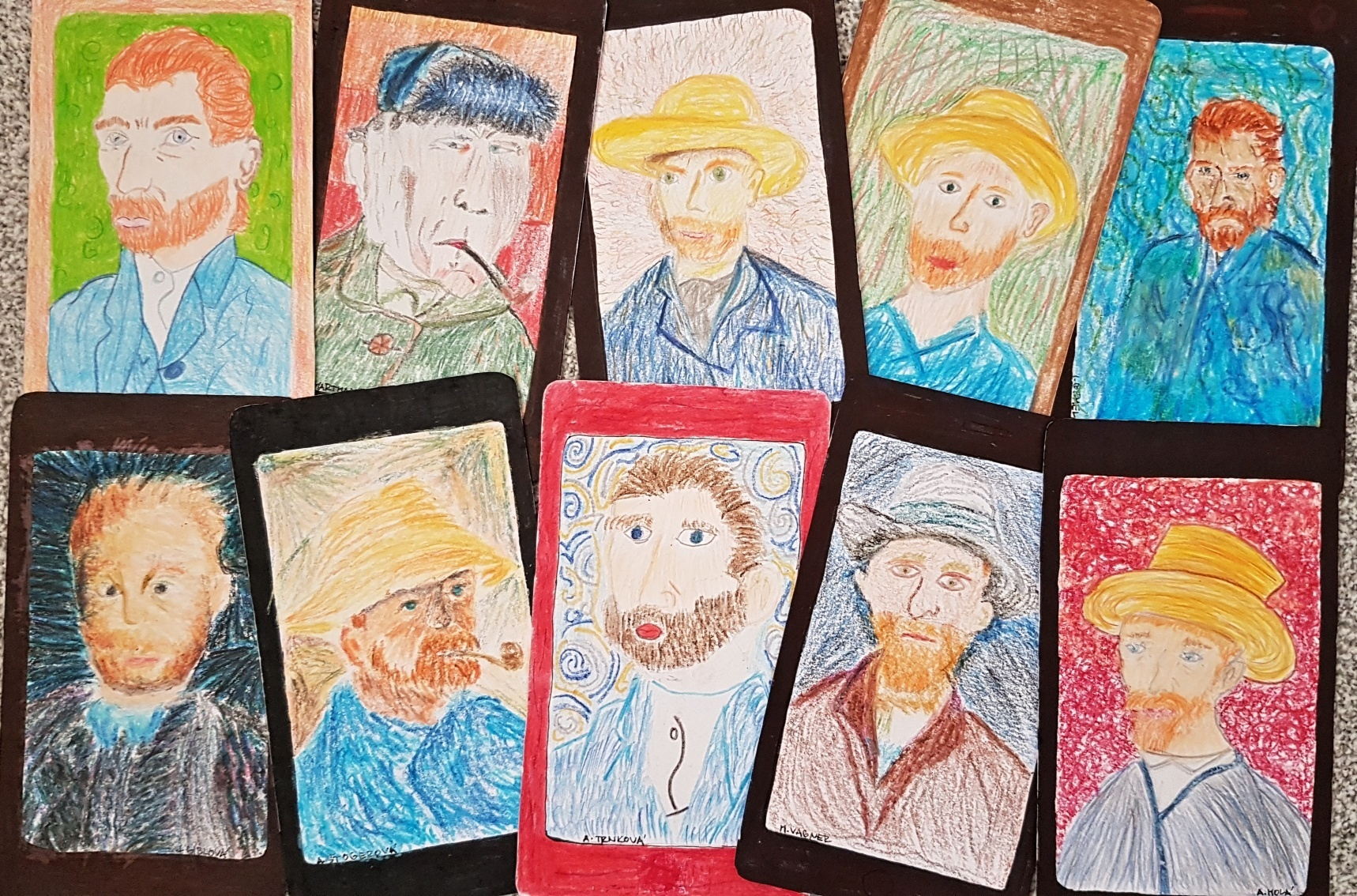 Gogh-Autoportrét-parafráze-selfie-žáci-7.AC_