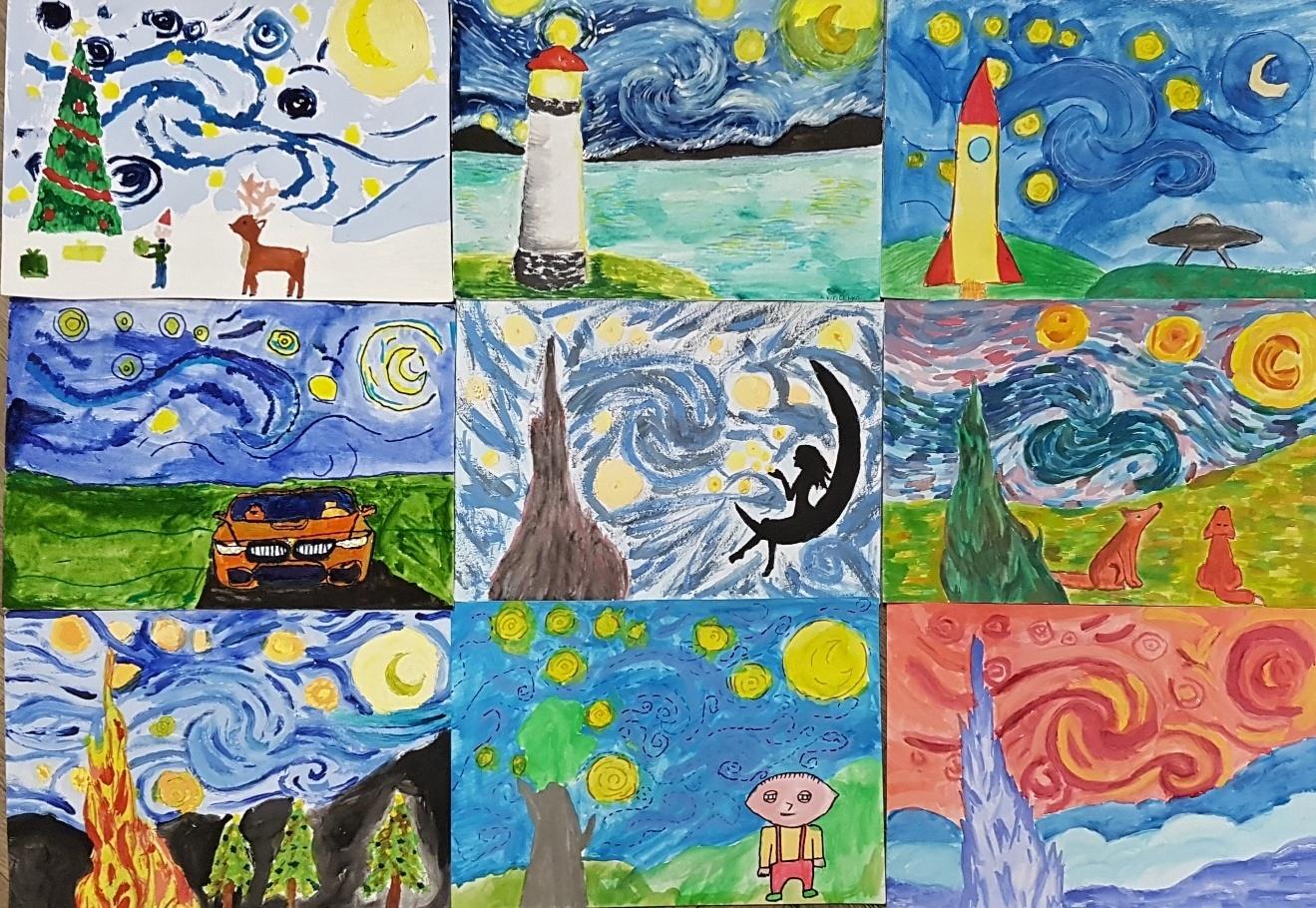 Gogh-Hvězdná-noc-pararáze-žáci-9.B