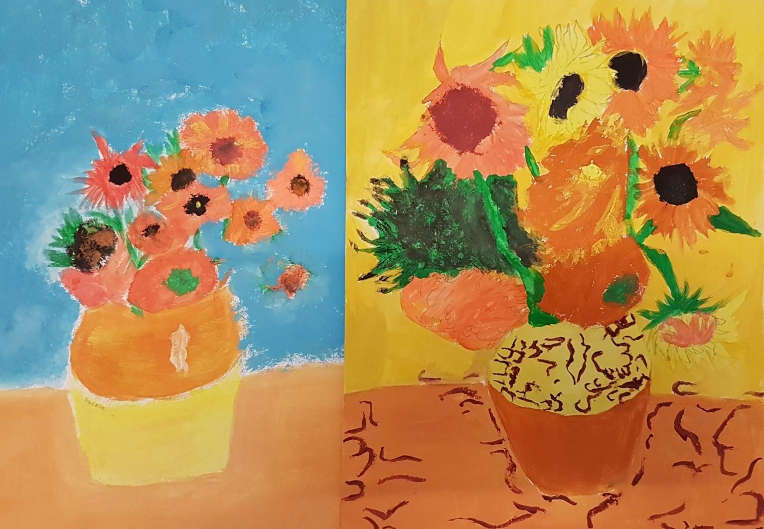 Gogh-Slunečnice-parafráze-Neumeierová-Straková-9.r.