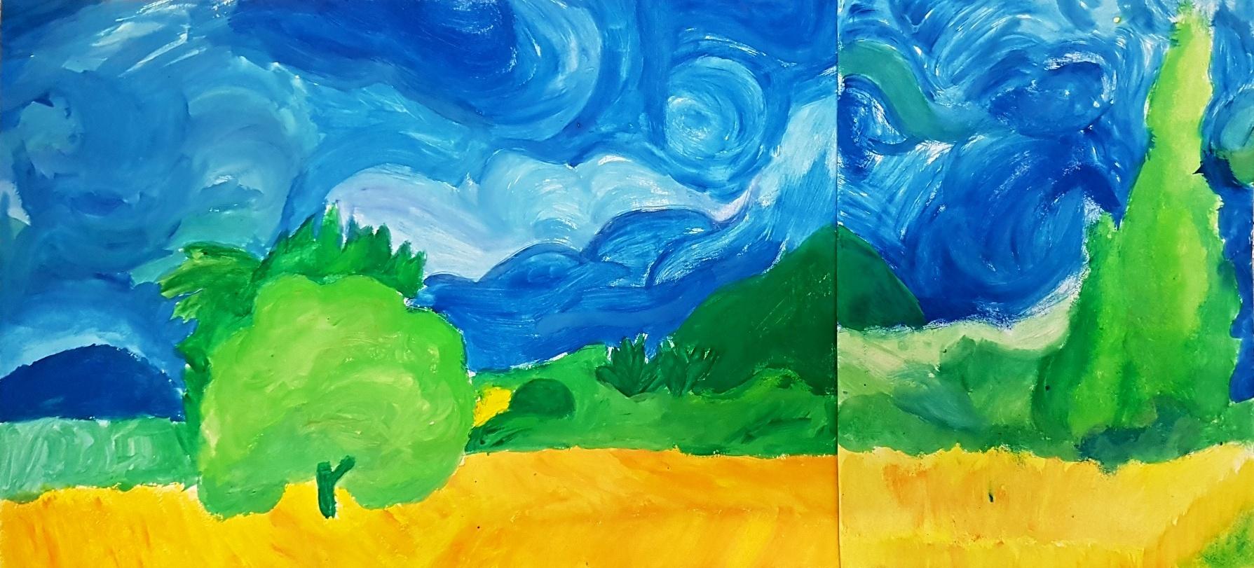 Gogh-parafráze-obrazu-Ptáčníková-Kostiuk-9.r.