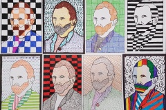 Gogh-Autoportrét-žáci-9.B