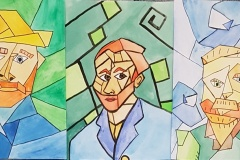 Gogh-Autoportrét-kubistická-parafráze-Huttr-Kiričenko-Kuboušková-9.r.
