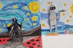 Gogh-Starry-Night-parafráze-3D-Hajsová-Vokáč-7.r.