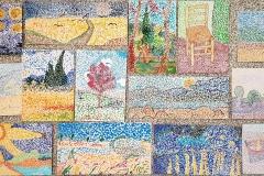 Gogh-parafráze-obrazu-pointilismus-žáci-7.r.