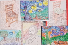 Gogh-parafráze-obrazu-rastry-žáci-8.B